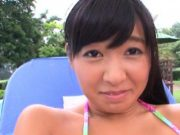 Asian with big boobs and great arse gets banged outdoors